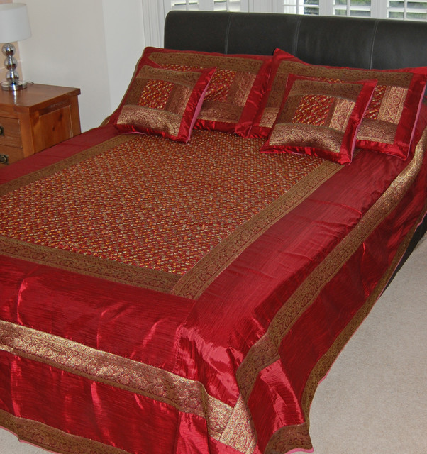 Bedspread Indian Elephant Silk Embroider Products on Houzz