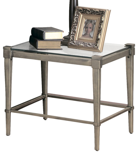 ... End Table with Metal Legs traditional-side-tables-and-accent-tables