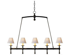 Classic Linear Chandelier traditional-chandeliers