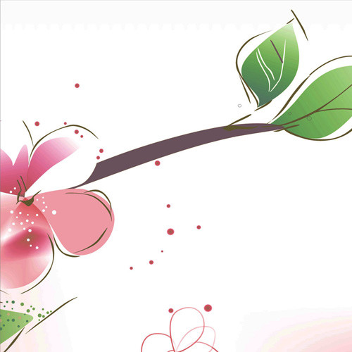 Flower graphics for canvas prints