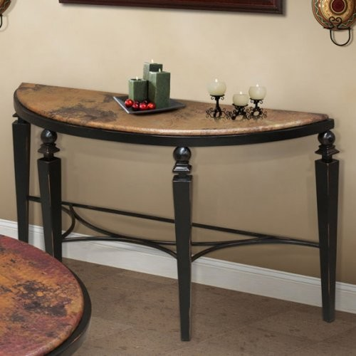 Artisan Tribecca Demilune Copper Console Table contemporary-side-tables-and-end-tables