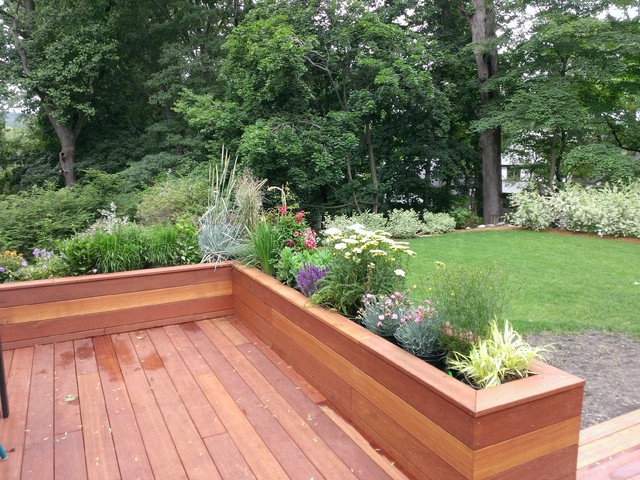 Raised Planters Modern Deck New York By The Slevin