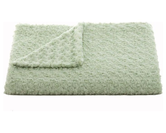 Belle & June - Lux Rosebud Throw, Sage - Plush and textured, the luxurious rosebud throw would be a great go to blanket for the foot of your bed or to snuggle up with on the couch, alone or with your sweetie. Soft and warm, each little rosebud is stitched together to create this bonny blanket.