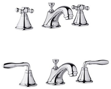 Grohe 20 800 BE0 Seabury WaterCare Widespread Lavatory Faucet contemporary-bathroom-faucets-and-showerheads