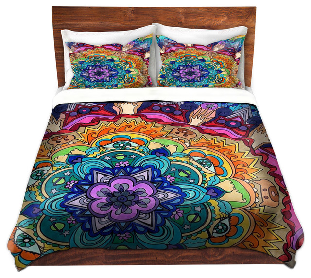 Duvet Cover Twill Microcosm Mandala Contemporary