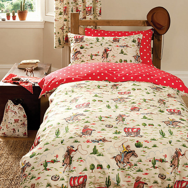 Cath Kidston Cowboy Duvet Cover and Pillowcase Set modern-kids-bedding