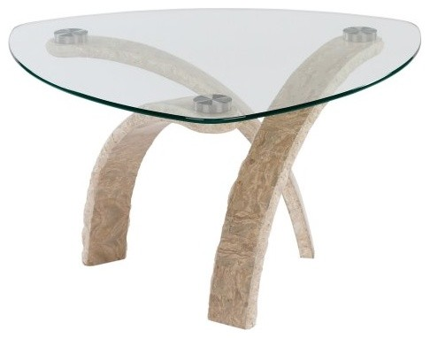 Magnussen Cascade Stone & Glass Cocktail Table - Contemporary - Coffee Tables - by Hayneedle