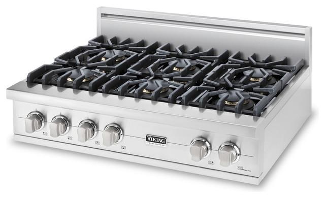 "Viking 36"" Pro-style Gas Rangetop Stainless Steel Liquid Propane   VGRT5366BSSLP cooktops"