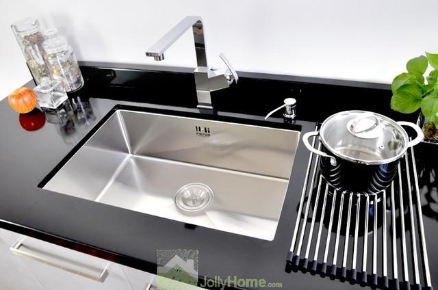 Silver Drop In Single Bowl Kitchen Sink Stainless Steel