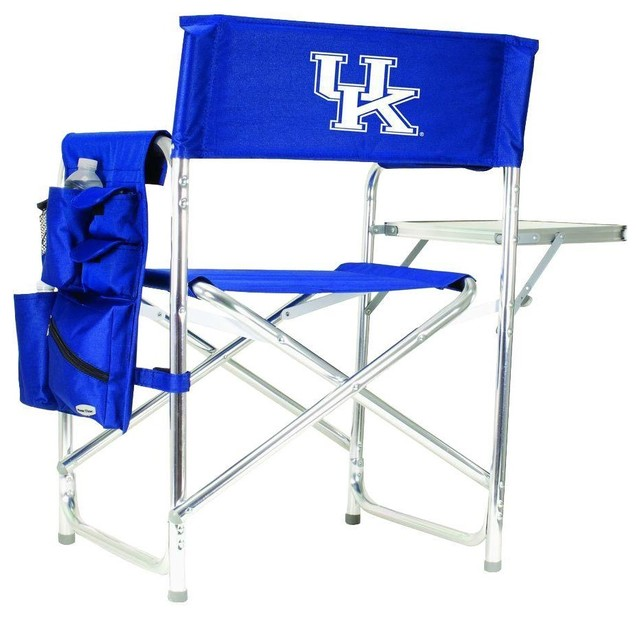 Picnic Time Chairs University of Kentucky Navy Sports Chair with Digital Logo