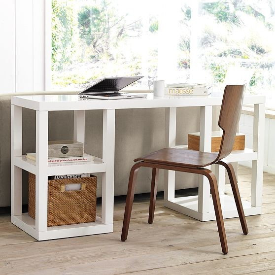 2 x 2 Console Desk modern-desks-and-hutches
