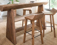 Hewn Wood Bar Stool + Counter Stool | West Elm