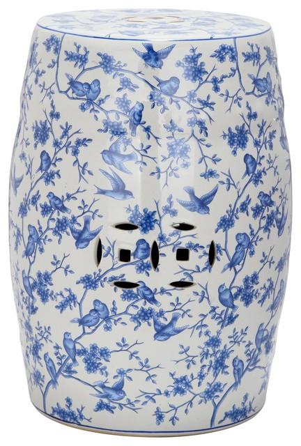 Blue Birds Garden Stool ACS4514A asian-accent-and-garden-stools