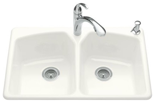 KOHLER K-6491-2R-96 Tanager Self-Rimming Kitchen Sink with Single-Hole Faucet Dr traditional-kitchen-sinks