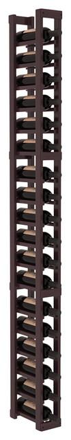 1 Column Standard Wine Cellar Kit in Redwood, Burgundy + Satin Finish contemporary-wine-racks