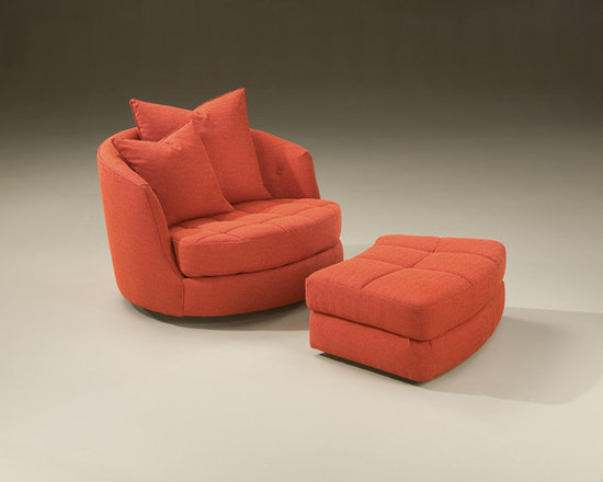 Thayer Coggin - Giant Tub Swivel Chair and Ottoman by Milo Baughman from Thayer Coggin - Thayer Coggin Inc.