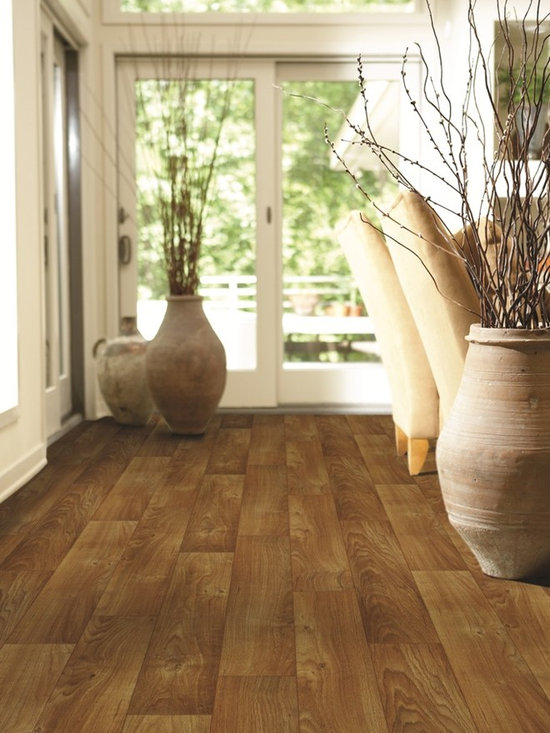 Charter Tawny Oak vinyl sheet flooring from Shaw -