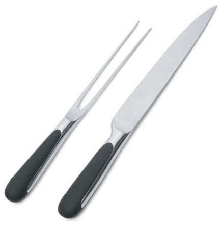 Alessi Mami Carving Knife and Fork Set modern-boning-knives