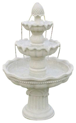 3-Tier Pineapple Fountain traditional-outdoor-fountains-and-ponds