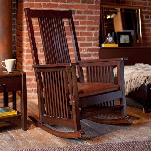 Province Mission Rocker - Walnut modern-rocking-chairs