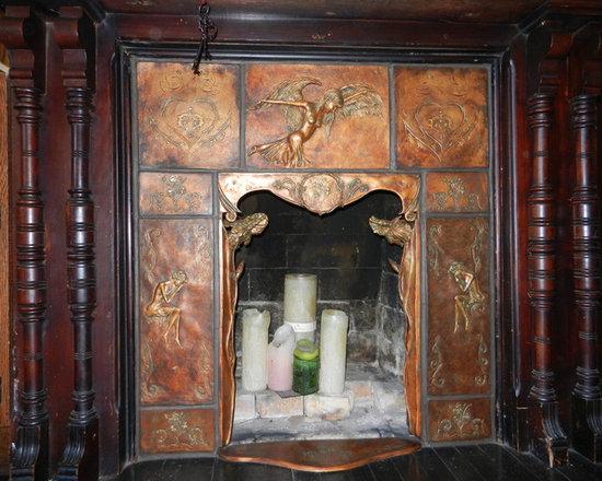 Custom Architectural Ceramic Fireplace -