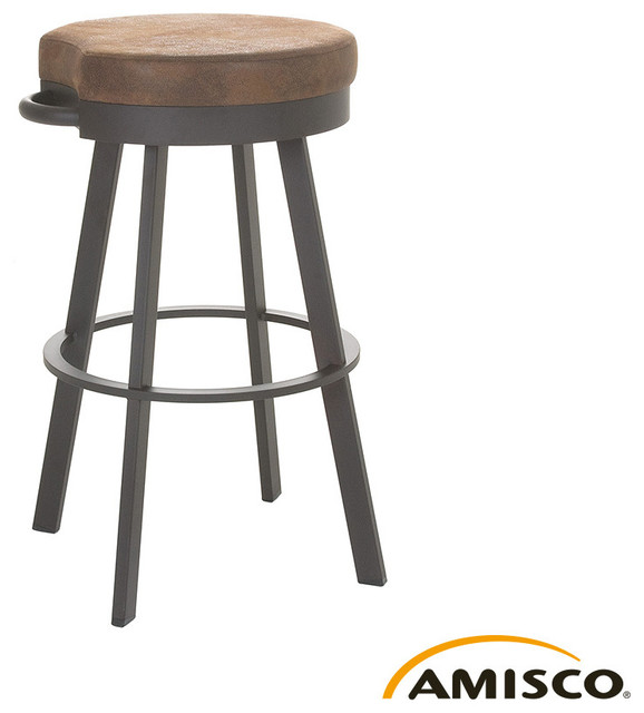 Amisco Bryce Swivel Stool Modern Bar Stools And