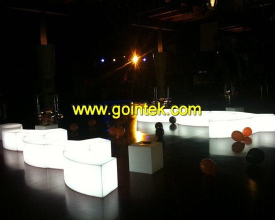 led cube chair with lighting led -