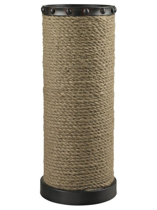 Sterling Industries - Natural Rope Wrapped Umbrella Stand - Natural Rope Wrapped Umbrella Stand