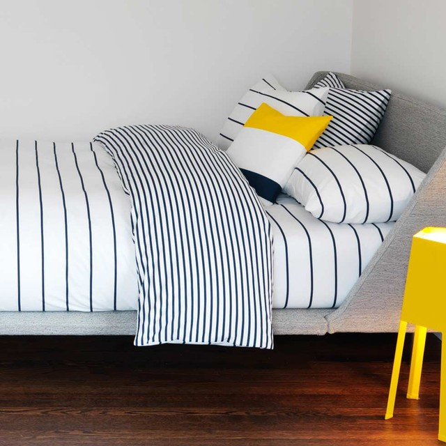 Sailor + Regatta Navy Duvet modern duvet covers