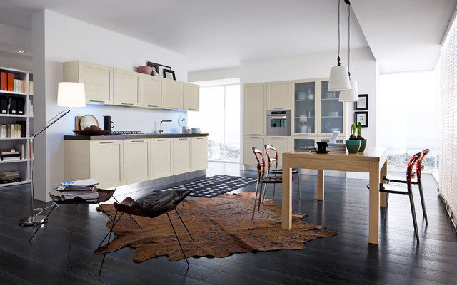 Italian Kitchens (by EFFEQUATTRO - Quadra) contemporary-kitchen-cabinetry