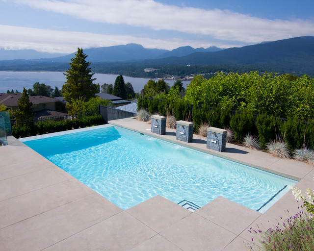 Faux Vanishing Edge Contemporary Pool Vancouver By