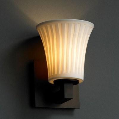 Justice Design Group Limoges POR-8921-20-WFAL-DBRZ Modular 1-Light Wall Sconce - modern-wall-lighting