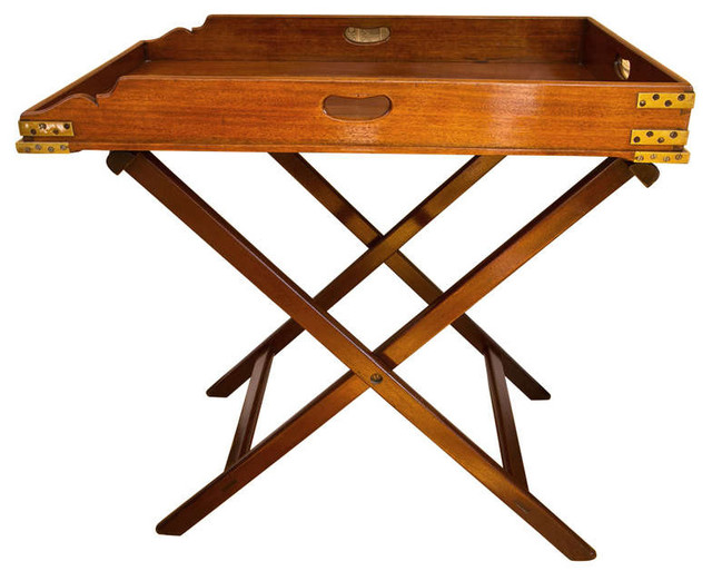 Antique Butler 39 S Tray Table Modern Tv Trays New York By Montage Modern Home