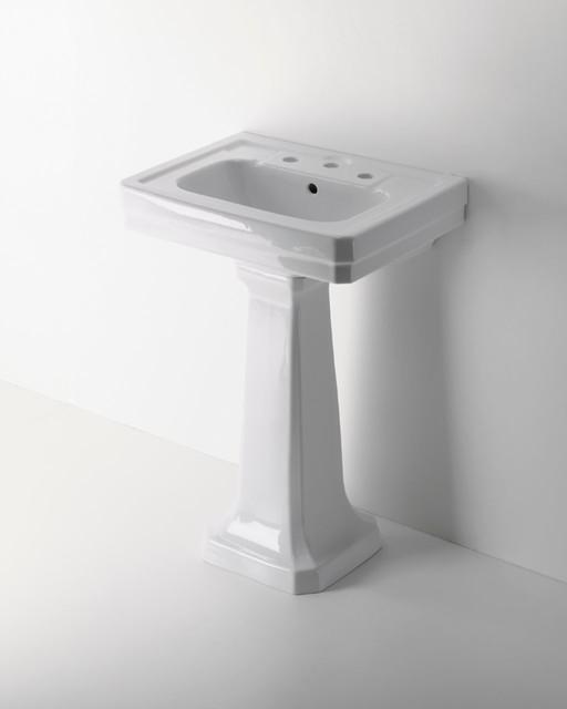 Exeter Pedestal Sink | waterworks.com traditional-bathroom-sinks