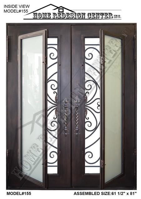 New wrought iron doors, model#155 mediterranean-front-doors