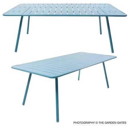 Fermob luxembourg knockdown 8 person rectangular table for Fermob luxembourg table