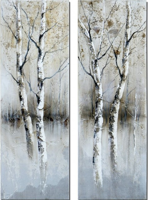 Tree Wall Paneling : Sentialsinside birch tree panels wall art