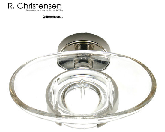 2217US14 Polished Nickel Soap Dish by R. Christensen - 5-1/16 inch wide contemporary style soap dish by R. Christensen in Polished Nickel.