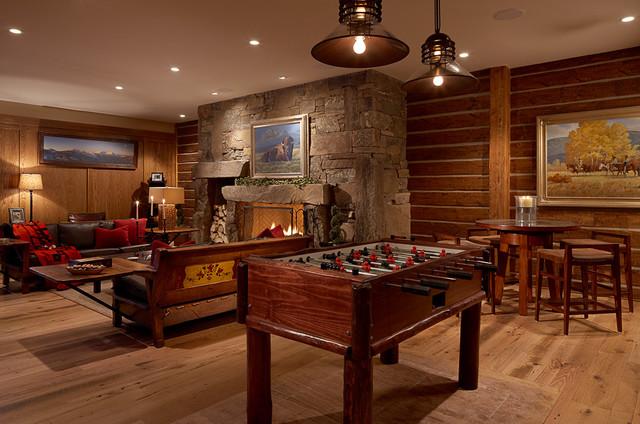 Modern Rustic Game Room Pendant Lighting By Aldo