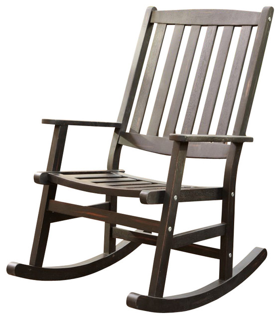 Home Styles Bali Hai Outdoor Rocking Chair in Black Finish Transitional R