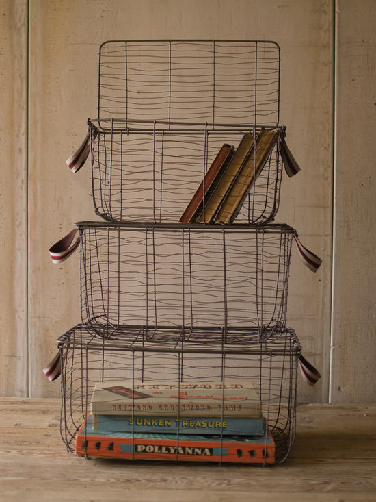 Vintage Wire Baskets -