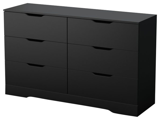 South Shore Trinity Dresser in in Pure Black - Modern - Dressers - by Cymax