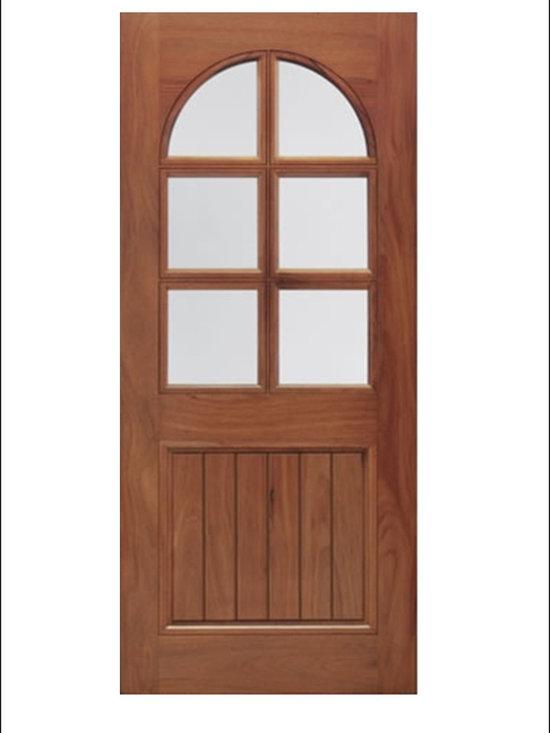 Walnut Entry Door Model # A75GP -