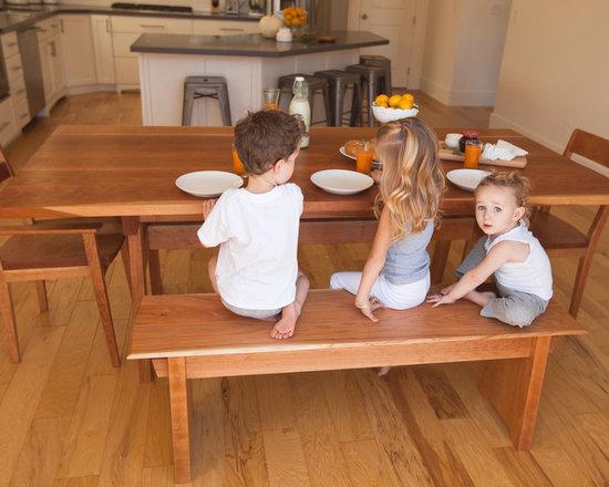 Sugarhouse Table + Furrow Bench - photo: Ashley Thalman