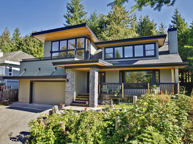 Craftsman Front Elevation : Modern craftsman front elevation