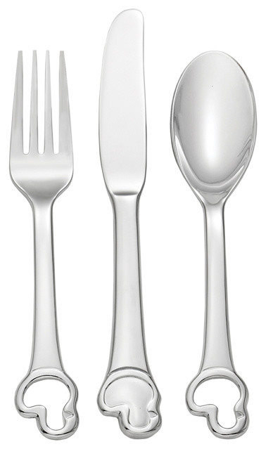 Oneida Baby/Child Duckling 3 Pc. Child Set traditional-cutlery-sets