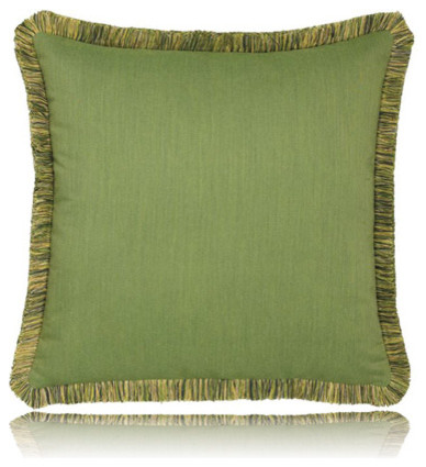 Decorative Pillows With Fringe : green radiance w/ fringe pillow (20x20) - Contemporary - Decorative Pillows - by Thos. Baker