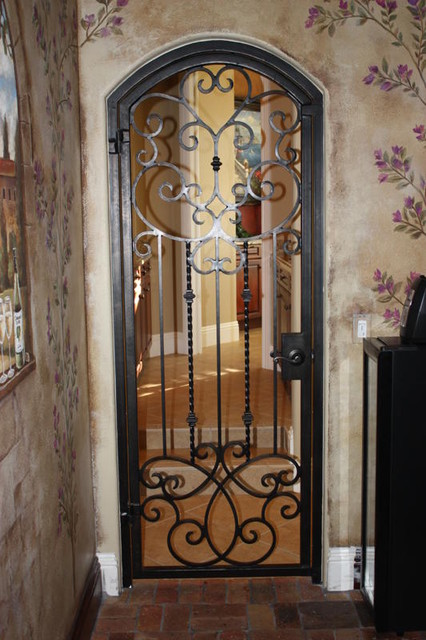 Forge Iron Designs Wine Cellar Doors mediterranean interior doors