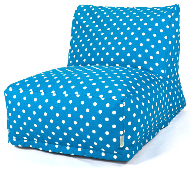 indoor ocean small polka dot bean bag chair lounger contemporary bean bag chairs by. Black Bedroom Furniture Sets. Home Design Ideas