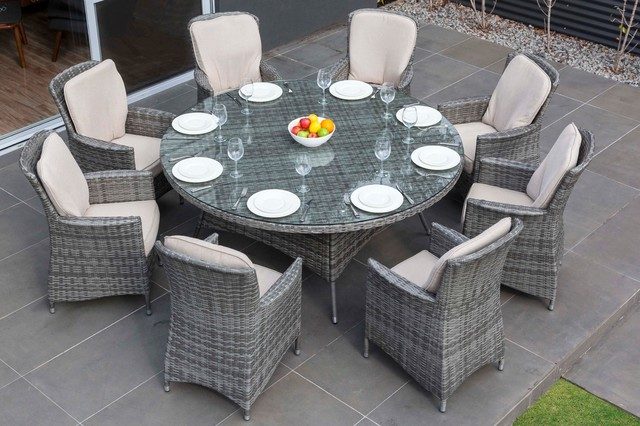 Moda Furnishings Outdoor Wicker Furniture Nassau 8 Seat